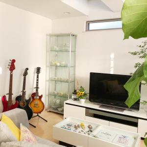 夫の趣味のギターの場所を決めました♪