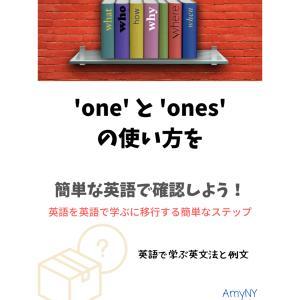 'one' と 'ones'の使い方を簡単な英語で確認しよう!