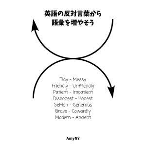 絵と一緒に覚える「形容詞の反対言葉」で英単語を増やしたり確認する