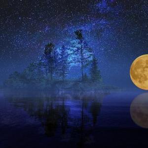 満月の夜の無料一斉ワーク