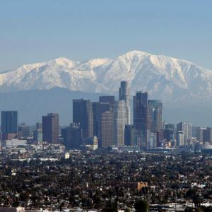 skyline of downtown LA
