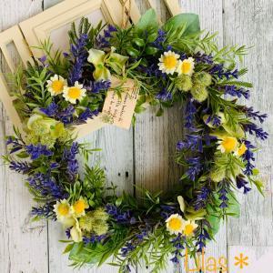 【募集】花の季節にご褒美時間☆フラワーリースレッスン