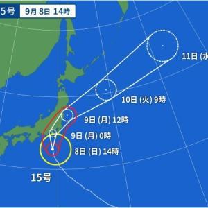 台風直撃コース?