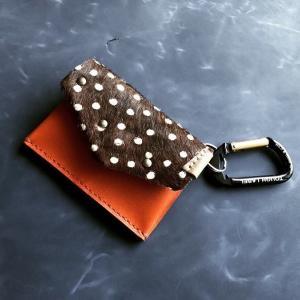 ハラコ付きのコンパクト財布