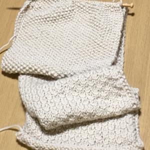 編み物途中経過