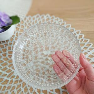 【100均】ダイソー★北欧食器カステヘルミ風の可愛いガラスプレート♪