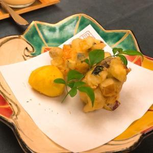 秋野菜のかき揚げが出来ました!