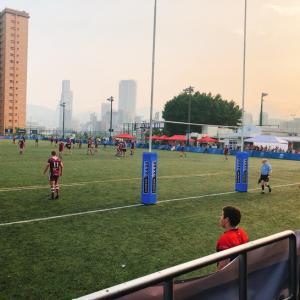 香港でSAXO証券がスポンサーのラグビーの試合をVIP席から観戦!すべて食べ飲み放題(笑