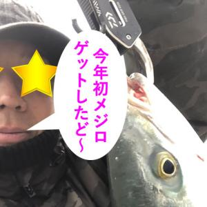 2021年初釣行で今年の初メジロGETに成功するパターン\(^_^)/平日の釣りは最高だぜ!