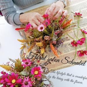 バンキングバスケットに秋のお花を楽しむ♡