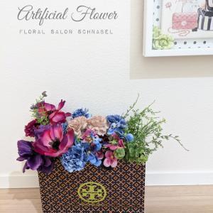 ブランド紙袋のリメイク術♡お花のある空間づくり