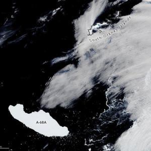 沖縄よりもデカイ全長150km超の巨大氷山が南大西洋を漂流中、12月にサウスジョージア島に激突し島が沈没?
