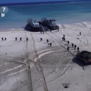 エアクッション型揚陸艇から海軍陸戦隊員と96式戦車が上陸、中国陸海空軍が上陸作戦を想定した統合演習を実施!