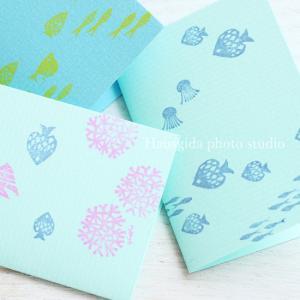 夏をイメージして、簡単プランターとカード作り♪