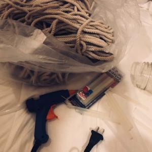 【DIY】手作りライトを紐を使ってちょっとだけリメイク