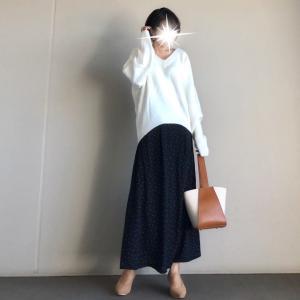 【ur's/しまむら】女子度高めなもっちりニット×値段にビックリするクオリティのしまむらスカート