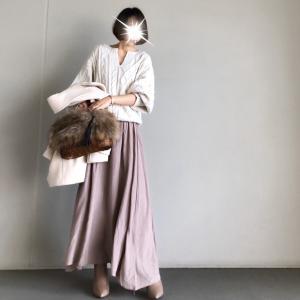 【reca】たっぷりな揺れ感とツヤがきれいなプチプラスカート