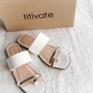 【titivate】ようやく見つけた♪ビーサン代わりに履けるデイリーサンダル