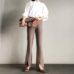 履くだけでスタイルアップ見せしてくれる美脚パンツ