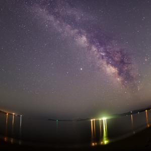 北の脇海岸の星空