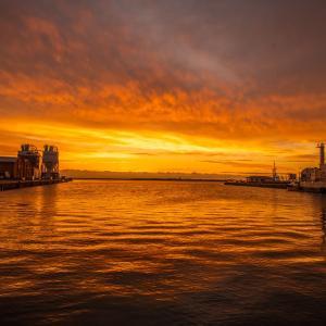 小松島港の朝