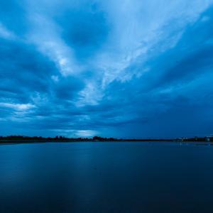大雨だった日の夕暮れ