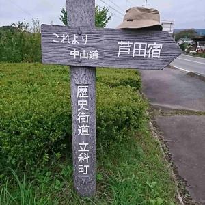 中山道てくてく歩き 14⑨ 【~茂田井一里塚~芦田】