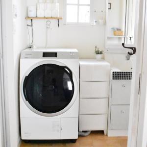【洗面所】念願のドラム式洗濯乾燥機に買い替え♡すごく驚いたこと。