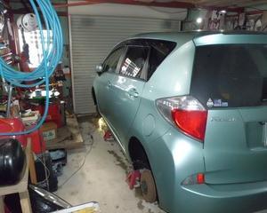 ラクティス(NCP125)車検整備...。