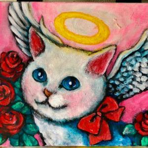 猫天使と個展のご案内会期中は販売するのでよろしく‼️