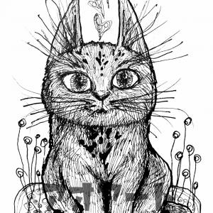夢2種✨iPhone 割れたあちらでは天才画家の私☺️猫のペン画もご覧ください‼️