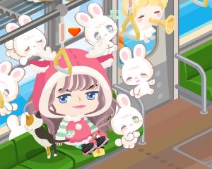 ピグの中でもとりわけ大好きな場所の一つ☆【猫ヶ崎エリア・電車】にただ今、乗車中~ラビ村ピグ探訪記