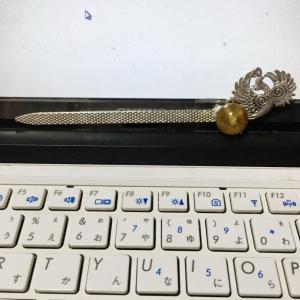 韓国時代劇【王妃のかんざし風】を作ってみた-鳳凰かんざしパーツにガラス玉をつけるだけ☆簡単DIY
