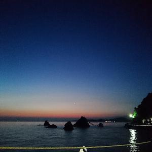 2020夏至伊勢行(1)二見浦の朝陽と夕陽