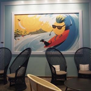 「Queen Kapiolani Hotel」はアートがたくさん