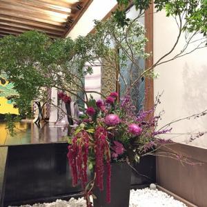 ー色を解くー 植物の力「幾世、紫」紫根染め 京絞り寺田 西陣座佐織 作品展へ