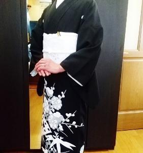結婚式のご列席の黒留袖着付けとヘアセット