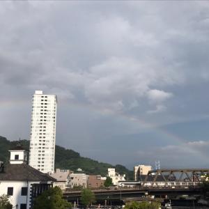 リンパ浮腫の治療の帰りは、虹が!