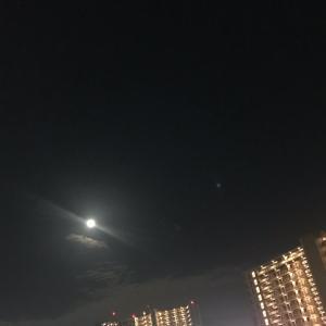 中秋の名月、見えました