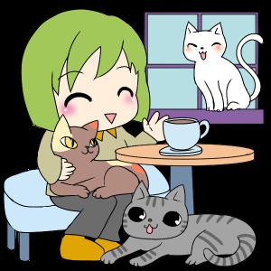 """青い鳥の""""成猫ナビ""""――ブログで猫カフェ"""