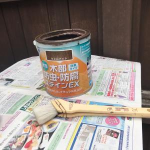 塀の色塗ったよ