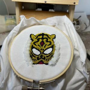 刺繍 タイガーマスク