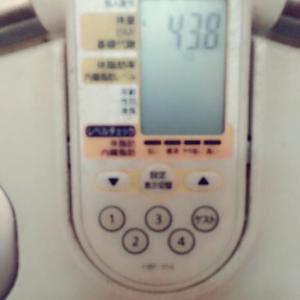 8/16(日) 43.8kg