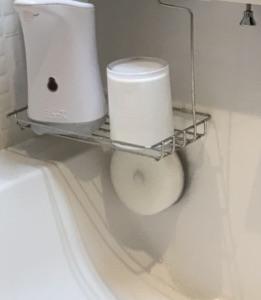 洗面所ボウルのお掃除スポンジ