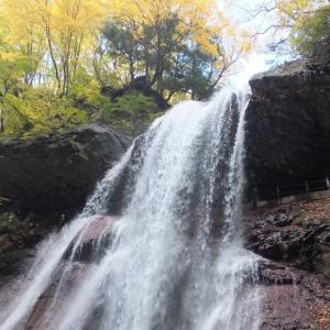 高山村の雷滝へ
