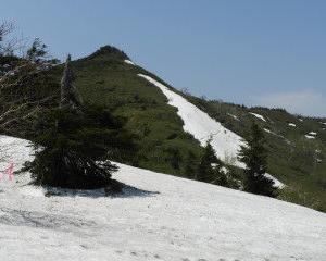 茶臼岳の雪渓楽しんできました
