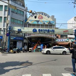 中部市場で韓国海苔を購入