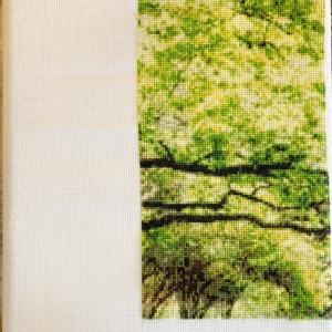 【クロスステッチ-緑大樹】一区切り。ブラッククローバーみて