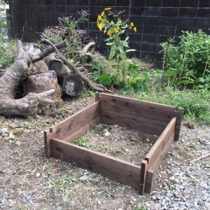 木枠コンポスト設置