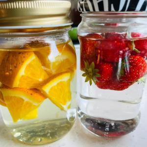 天然酵母 苺とオレンジ 1日目